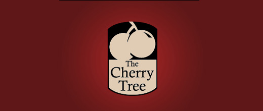 Tree cherry logo designs