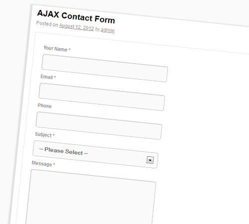 WordPress AJAX Form with Tracking and Settings