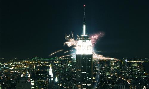 Explosion effect free high resolution skyscraper wallpaper
