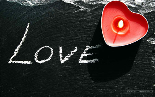 Love Candle HD Wallpaper