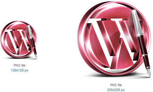 Red WordPress Icon