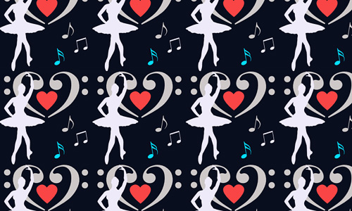 G-clef free musical repeat seamless pattern