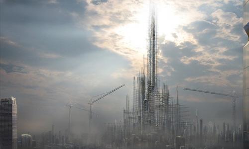 Digital art free high resolution skyscraper wallpaper