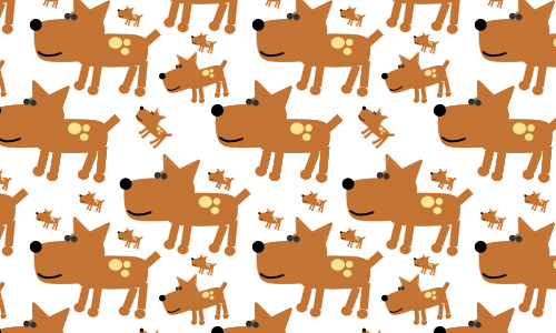 Brown dog free animal repeat seamless pattern