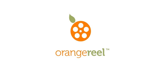 Film production orange logo design