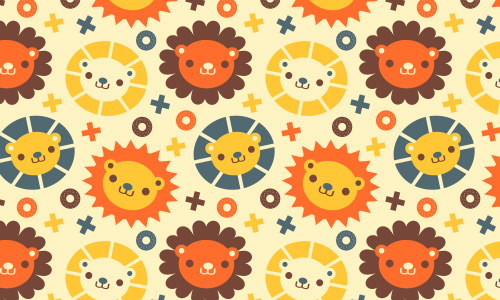 Kiddy bear free animal repeat seamless pattern