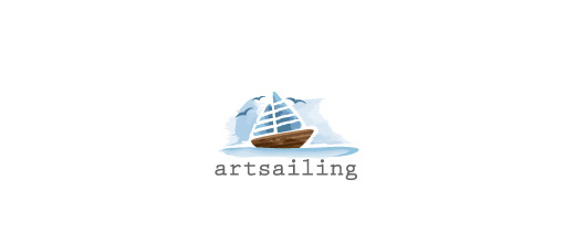 Painting boat logos design