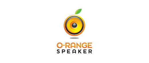 Speaker orange logo design