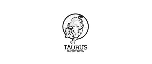 Taurus bull logo designs