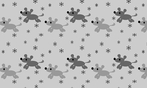 Snow dog free animal repeat seamless pattern