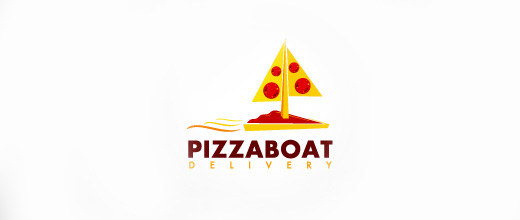 Pizza boat logos design