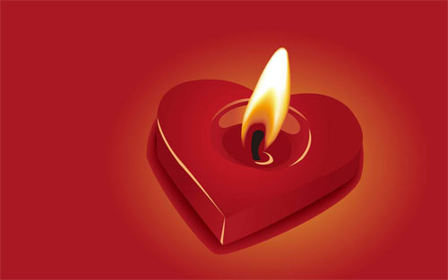Heart shaped candle wallpapers