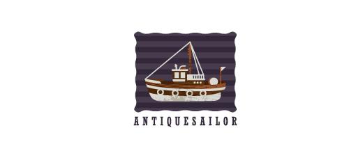 Retro vintage boat logos design