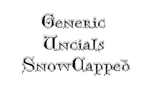 snowy snow cap free fonts