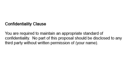 Confidentiality clause