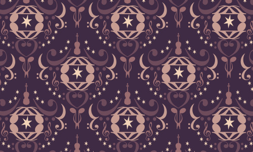 Notes shapes free musical repeat seamless pattern