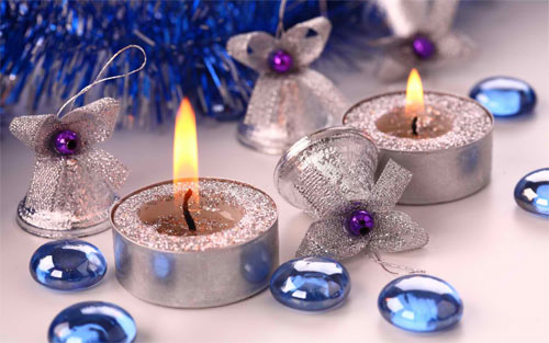Xmas candles wallpaper