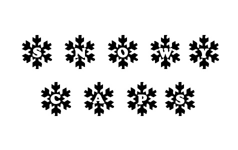 Frost flakes snowy snow free fonts