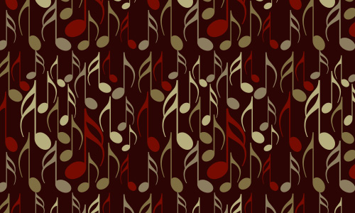 Notes free musical repeat seamless pattern