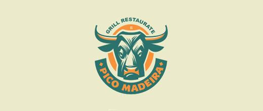 Restaurant bull logo designs