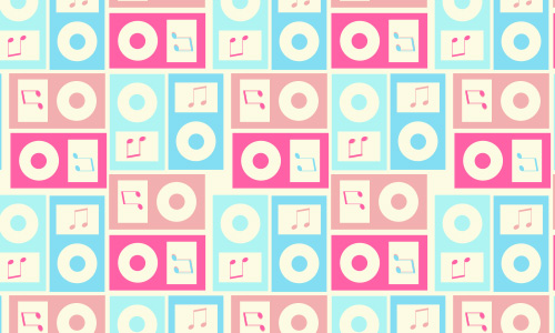 Square free musical repeat seamless pattern