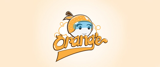 Helmet orange logo design