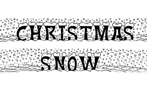 Christmas snowing snowy snow free fonts