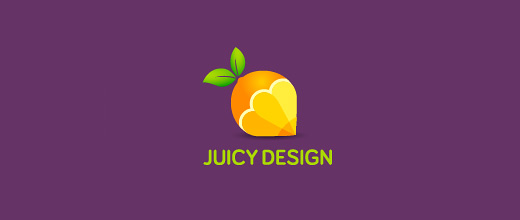 Pencil designing orange logo design