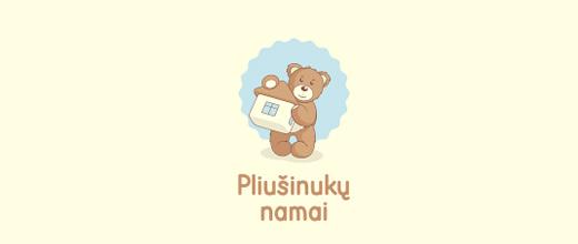Plushie teddy bear logo