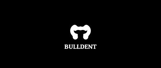 Tooth teeth dental bull logo designs