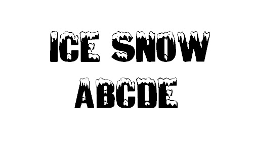 Ice covered snowy snow free fonts