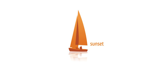 Orange boat logos design