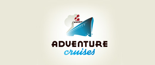 Cruise boat logos design