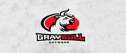 Gray bull logo designs