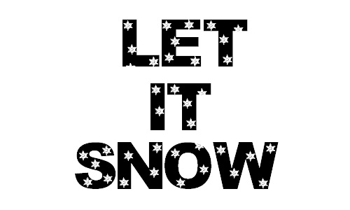 Nice flakes snowy snow free fonts