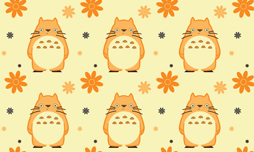 Orange free animal repeat seamless pattern
