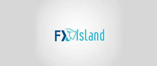Blue forex bull logo designs
