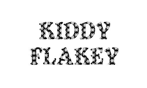 Sparkly kiddy snowy snow flakes free fonts