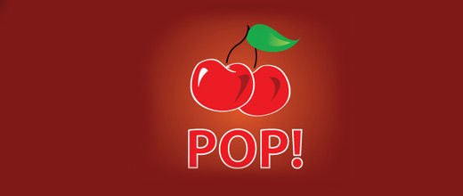 Pop cherry logo designs