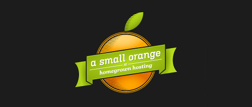 Hosting company orange logo design