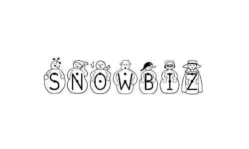 Cool snowman snowy snow free fonts