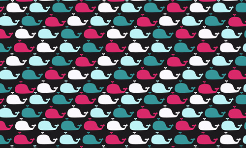 Whale colorful free animal repeat seamless pattern