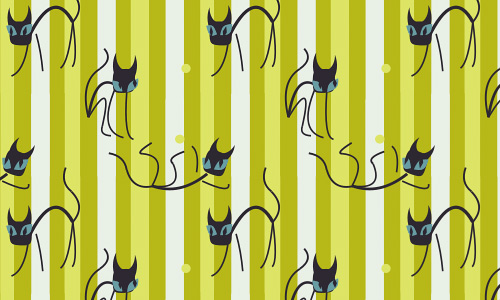Cat green free animal repeat seamless pattern
