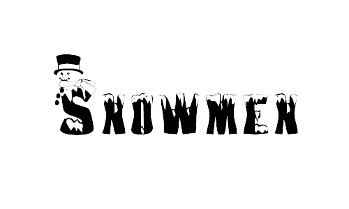 Useful snowman snowy snow free fonts