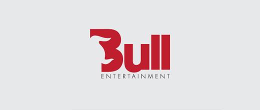 Horn typography bull logo designs