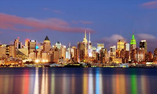 New York seaside free high resolution skyscraper wallpaper