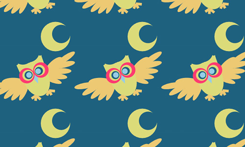 Owl free animal repeat seamless pattern