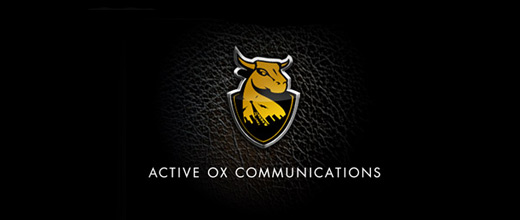 Communication bull logo designs