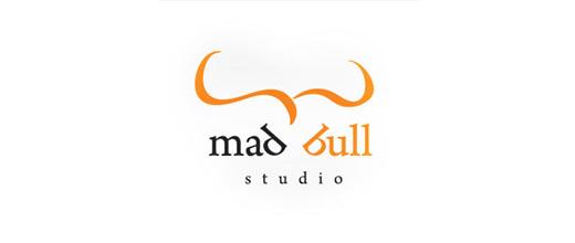Typography bull logo designs