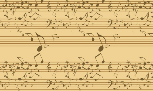 Vintage free musical note repeat seamless pattern